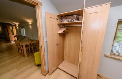 The double bedroom has a triple wardrobe giving ample storage space.
