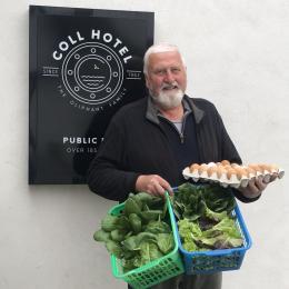 Farmer Brian delivering his produce