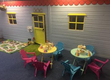 Rooftops room for parties / events with giant playhouse