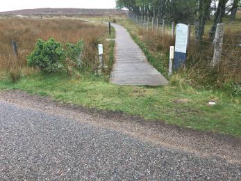 A897 Public road access to boardwalk