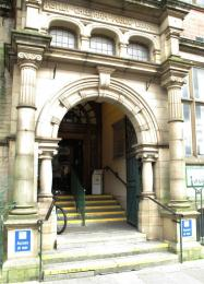 Main entrance to Astley Cheetham Art Gallery