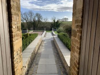 The Dairy - walkway through communal courtyard