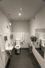 Accesible toilet in the Welcome Centre