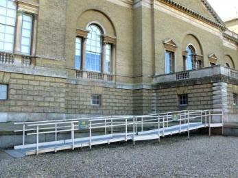 Access ramp and parking outside Holkham Hall