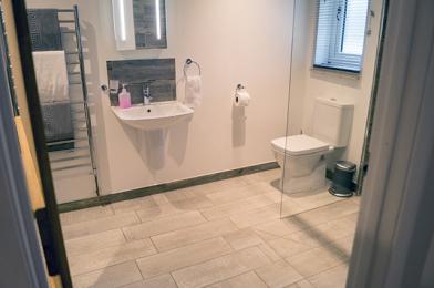 Bedroom 2 ensuite with walk-in wetroom shower