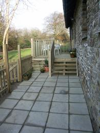 Private decking and patio area