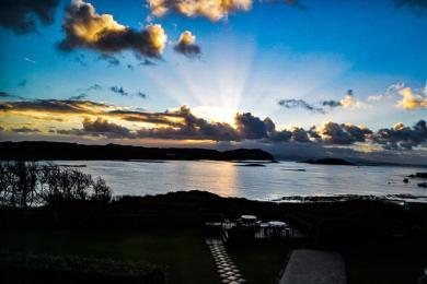 Sunrise from terrace