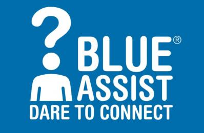 Blue Assist logo.