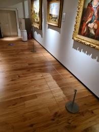 Barriers across two paintings