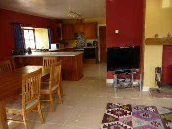 The Beltie Byre Self Catering Cottage Open Plan Lounge, Dining and Kitchen Area