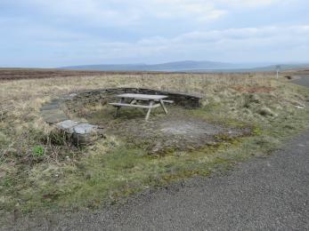 Bench at Birsay Moors View Point
