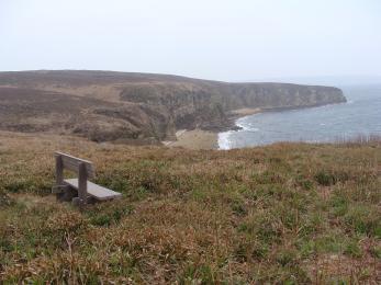 Bench overlooking Scapa Flow