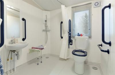 View of wet room in the caravan holiday home at Blairgowire Holiday Park