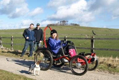 Hire our off-road wheelchair to explore the Peak District countryside with family and friends