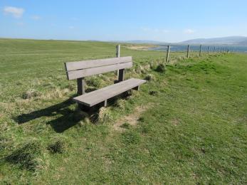 Bench alongside Brodgar nature reserve footpath