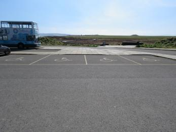 Main car park at Brodgar
