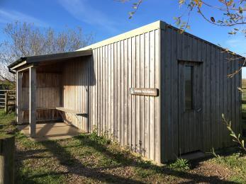 Buckenham Hide and external viewing shelter