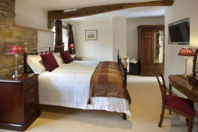 The master bedroom at The Byre from Cottage in the Dales