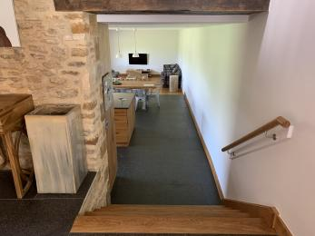 The Cart Shed - Stairs to kitchen and living area