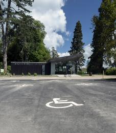Disabled bays in the car park