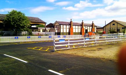 Disabled parking in front of station