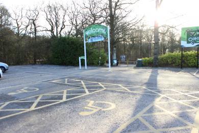 Car park disabled spaces