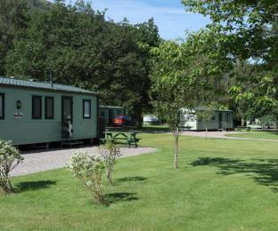 Self catering caravans exterior grounds
