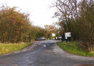 Main entrance to the reserve. The bus service stops here.