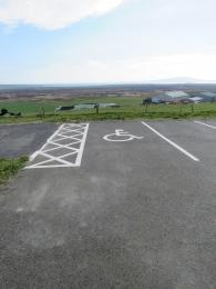 RSPB Cottascarth and Rendall Moss designated accessible car parking space