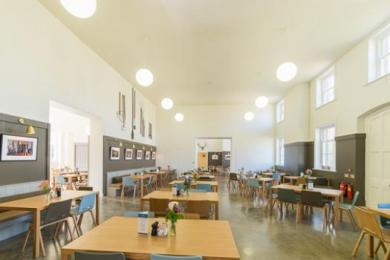 The interior of the Courtyard Café