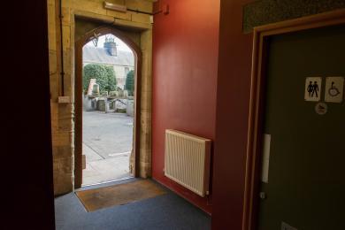 Door to garden.