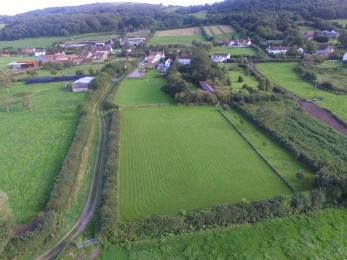 Aerial view of Home Farm fields