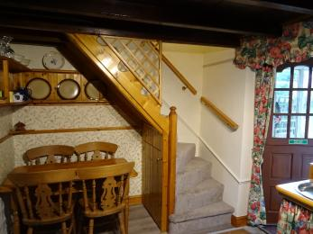 staircase to both bedrooms