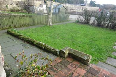 view of garden from front door