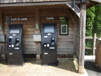 Payment machines. Visitors can also pay at the Information Office between 09.30 and 4pm daily.