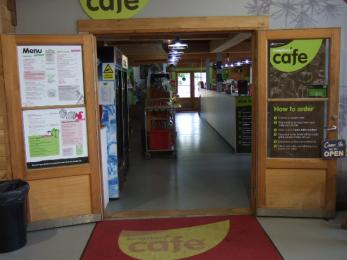 Access to the Bedgebury Cafe from the atrium