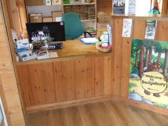 Low level desk in the Visitor Information Office
