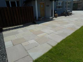 Paved Area at front of cottage