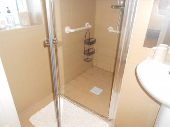 Aliminium strip to entrance of shower