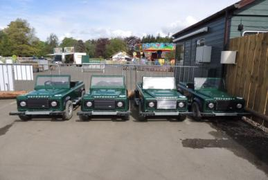 Mini Land Rovers