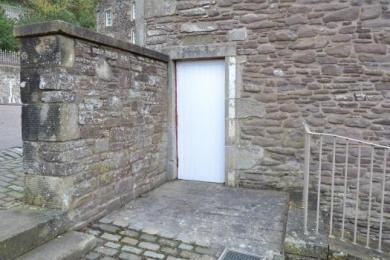 Disabled entrance to Robert Owen's House