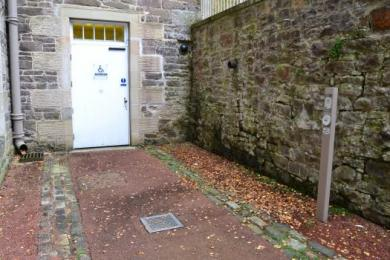Disabled entrance to Robert Owen's School