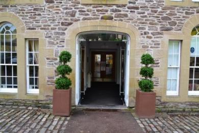 Entrance to the New Lanark Mill Hotel