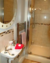 Shower with in-step