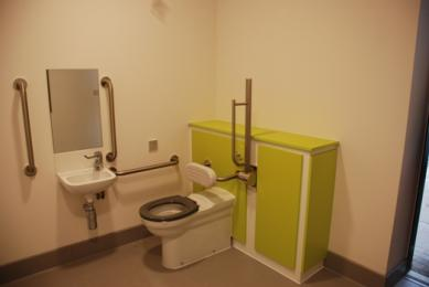 Image of one of three accessible toilets in the Remembrance Centre