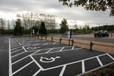Car Parking Bays for Disabled Visitors
