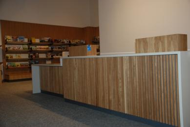 Gift Shop counter with lowered section for ease of access