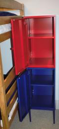 Clothes storage units.