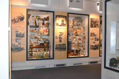 This photo shows some of the displays in the Heritage gallery.