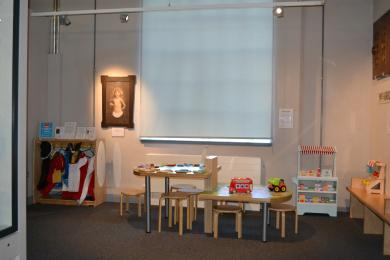 This photo shows the children's play area in the Heritage gallery.